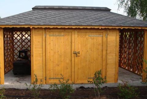 Garaż Drewniany Z Drewutnią Wood Play Wyposażenie Ogrodu Z